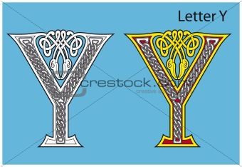 Ancient Celtic alphabet (26 letters)