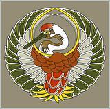 Vector japanese crane bird  symbol