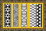 Set of ancient american indian patterns