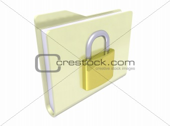 folder icon and padlock