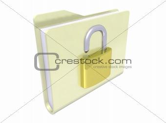 folder icon padlock open