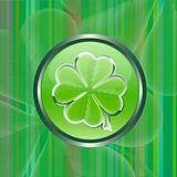 Green clover leaf vector sign on green background