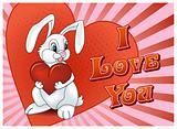 Saint Valentine's Day Rabbit with heart