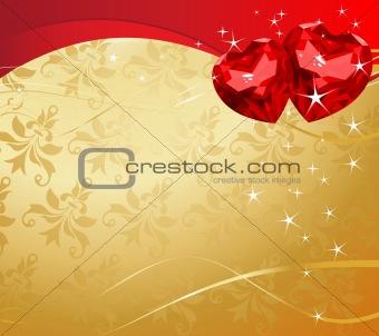 Valentine Ruby Hearts