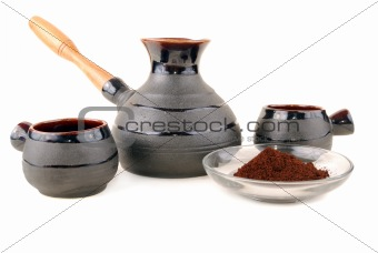 Clay coffee maker