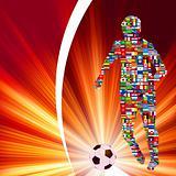Soccer Player in Global Soccer Event. EPS 8