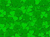 Happy St Patrick's Day Shamrock Leaves Background