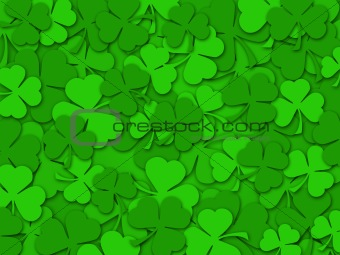 image 3462367: happy st patrick's day shamrock leaves background, Powerpoint templates