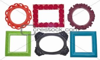 Modern Vibrant Colored Empty Frames