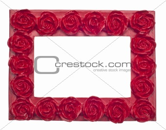 Red Rose Modern Vibrant Colored Empty Frame