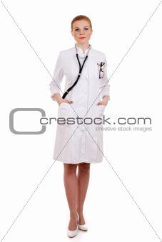 Beautiful successful female doctor