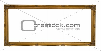 Antique Gold Panoramic Picture Frame