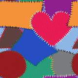 Abstract background with motley textile patches