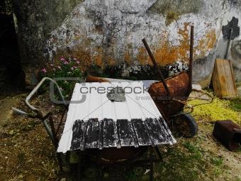 abandoned rural scene