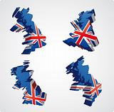 Four UK 3d views