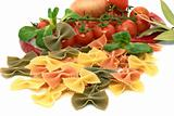 Italian pasta farfalle with vegetables