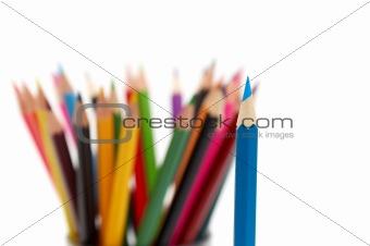 A bunch of color pencils