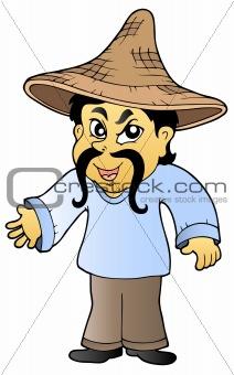 Asian tradesman in hat