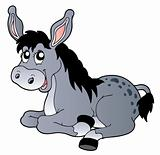 Cartoon lying donkey