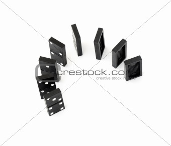 black domino stones