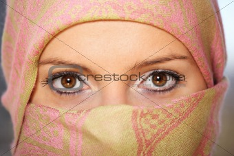 Arabic woman with scarf