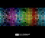 Black business abstract background with color gradients