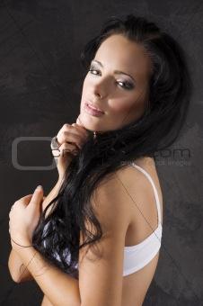 brunette portrait girl