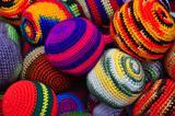 Woolen juggling balls