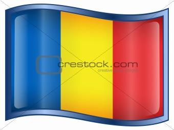 Chadian Flag icon.