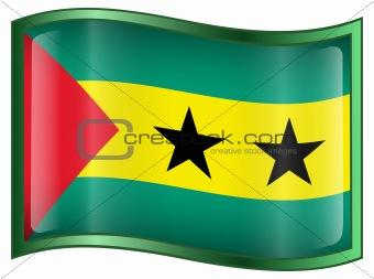 Sao Tome Flag icon.