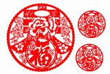 Chinese paper cutting for Spring festival