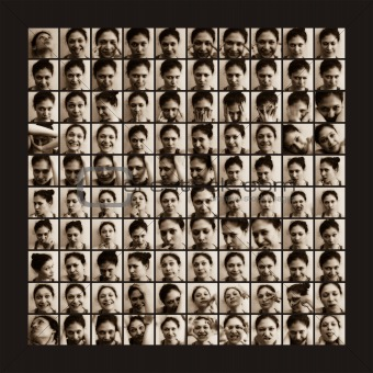 100 shots of women emotions