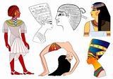 various elements of ancient Egypt - vector