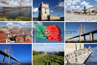 Collage of Lisbon sights
