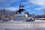 Jackson Statue Canons Lafayette Park White House After Snow Penn