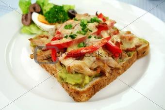 Grilled Open Chicken Sandwich