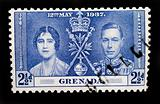 GRENADA - CIRCA 1937 - Postage stamp marking the coronation of K