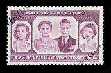 BOTSWANA - CIRCA 1947 - Commonwealth postage stamp marking the R