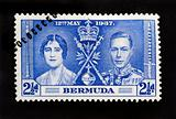 BERMUDA - CIRCA 1937 - First Day Cover postage stamp marking thh