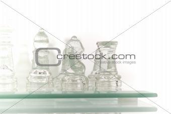 Beautiful glass chess