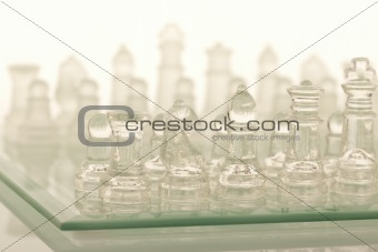 Beautiful glass chess