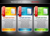 Web elements. Sale banners
