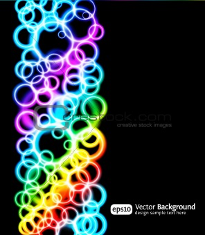 Eps10 bright light effects blue background. Vertical illustration