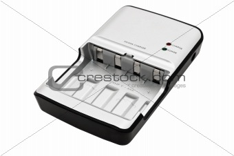 AA/AAA accumulator battery charger, isolated on white background