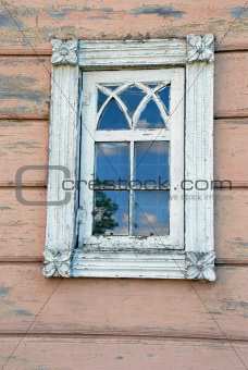 Ancient wood window