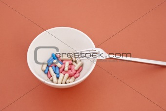 a meal of different tablets