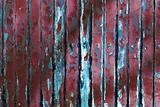 Old Red chipping wood wall