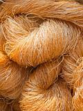 Raw silk yarn for weaving