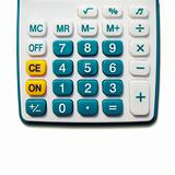 White calculator green button