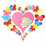 valentine butterflies heart